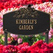 Black/Gold: Butterfly Blossom Garden Personalized Lawn Sign, Landscape View