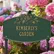 Green/Gold: Butterfly Blossom Garden Personalized Lawn Sign, Landscape View