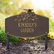 Bronze/Gold: Butterfly Blossom Garden Personalized Lawn Sign, Landscape View