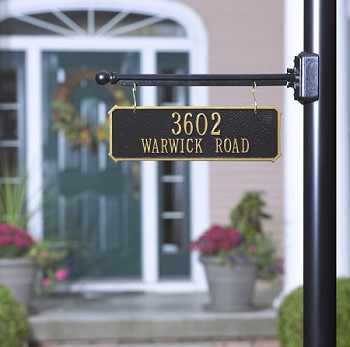 Two-Sided Hanging Rectangle Address Plaque 2 Line