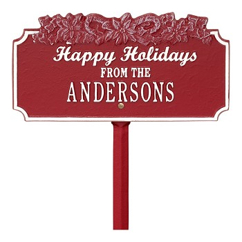 Happy Holidays Personalized Sign Candy Cane