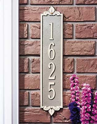 Lyon Vertical Address Plaque Estate