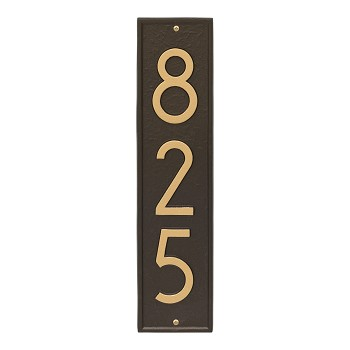 Delaware Modern Vertical Address Plaque Wall