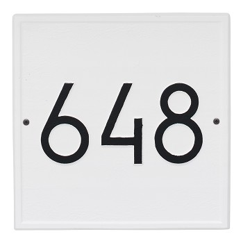 Square Modern Address Plaque Wall