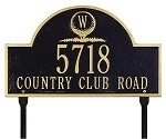 Monogram Golf Address Plaque
