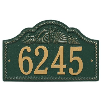 Rope and Shell Wall Address Plaque