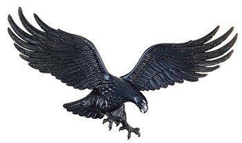 Eagle Wall Plaque 36 Inches in Black