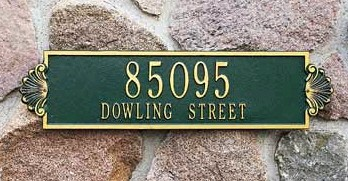 Shell Address Plaque