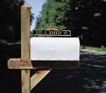 Two-Sided Mailbox Plaque - Arch & Scroll