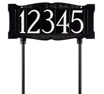 4 Inch Numbers Lawn Plaque