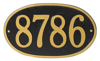 Oval Round Address Plaque