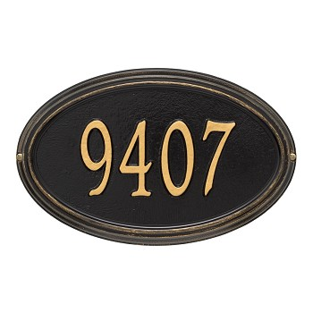Concord Oval Address Plaque Wall 1 Line
