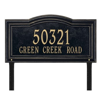 Arbor Address Plaque Lawn 2 Line