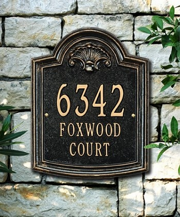 Elderwood Address Plaque
