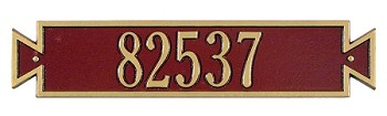Exeter Horizontal Address Plaque