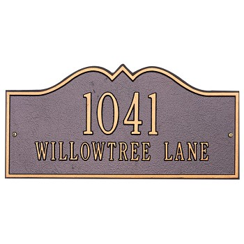 Hillsboro Address Plaque Wall 1 Line