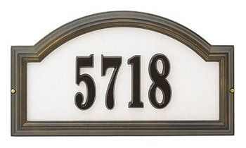 Providence Reflective Address Plaque Wall