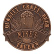 Antique Copper: Quality Craft Beer Round 1 Line Plaque