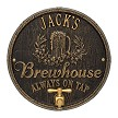 Black/Gold: Oak Barrel Beer Pub Wall Plaque