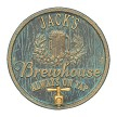 Bronze Verdigris: Oak Barrel Beer Pub Wall Plaque