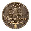 Bronze/Gold: Oak Barrel Beer Pub Wall Plaque