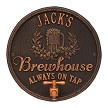 Oil Rubbed Bronze: Oak Barrel Beer Pub Wall Plaque