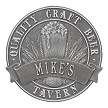 Pewter/Silver: Quality Craft Beer Round 1 Line Plaque