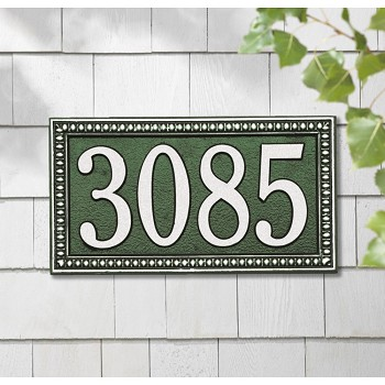 Egg and Dart Address Plaque Wall 1 Line