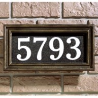 Illuminated Address Plaque Classic
