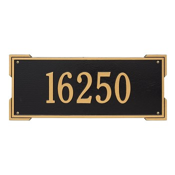 Roanoke 1 Line Estate Wall Address Plaque
