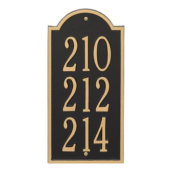 New Bedford Mini Vertical Address Plaque