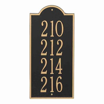 New Bedford Vertical Address Plaque Large