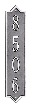 Norfolk Vertical Address Plaque