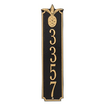 Pineapple Vertical Address Plaque Wall