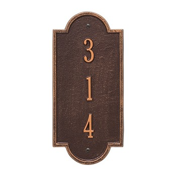 Richmond Vertical Address Plaque Petite