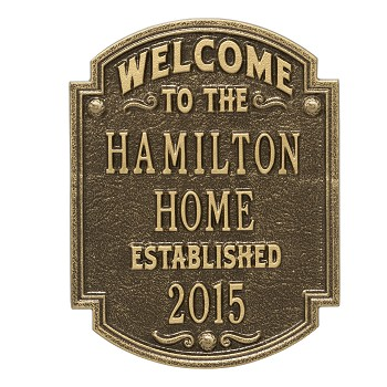 Heritage Welcome Anniversary Plaque
