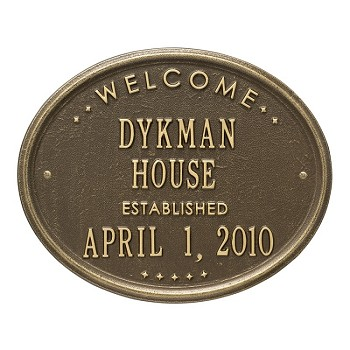 Welcome Established Plaque House