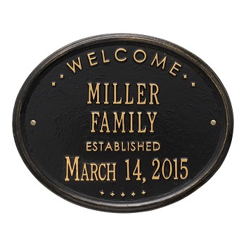 Welcome Established Plaque Family