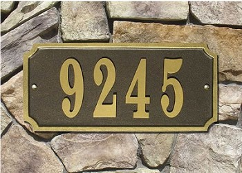 Waterford Rectangle Address Plaque - Quick Ship
