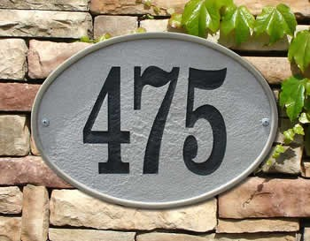 Oakfield Oval Address Plaque - Crushed Stone
