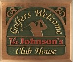 Club House Sign Personalized