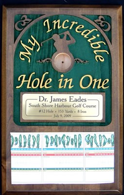 My Incredible Hole in One Plaque - Male