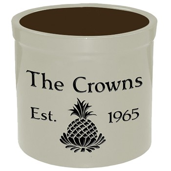 Stoneware Crock Pineapple Design