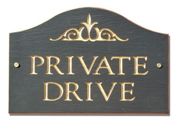Private Drive Plaque Loaf