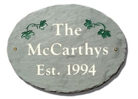 Oval Slate Established Plaque