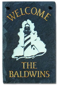 Lighthouse Plaque Personalize