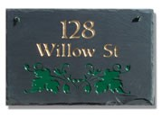 Ivy Slate Address Plaque