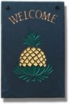 Pineapple Welcome Plaque Hand-Painted