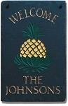 Pineapple Welcome Plaque Personalize