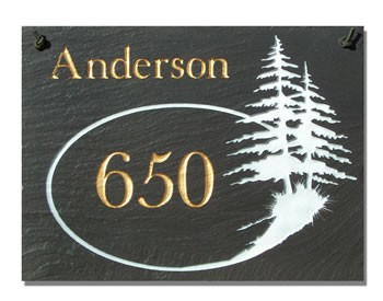 Two Pines Address Plaque
